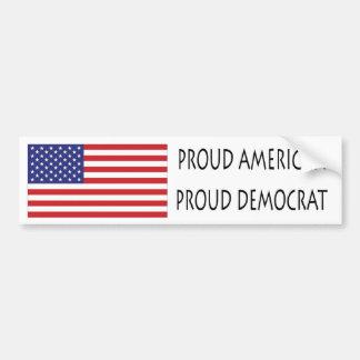 Demócrata orgulloso pegatina de parachoque