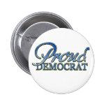 Demócrata orgulloso con clase pin