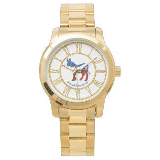 Demócrata orgulloso personaliza relojes de pulsera