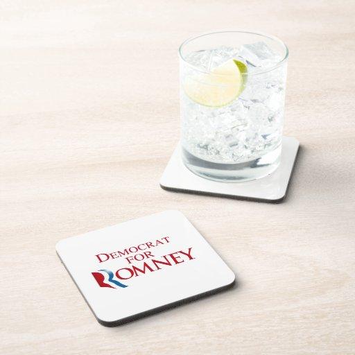 DEMÓCRATA PARA ROMNEY.png Posavasos De Bebida