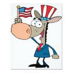 demócrata patriótico lindo del dibujo animado del comunicados
