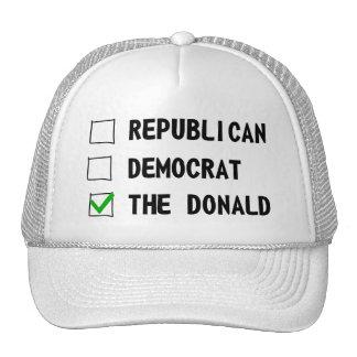 Demócrata republicano el Donald Gorra