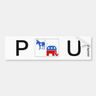 demócrata-republicano, hedores del congreso pegatina para auto