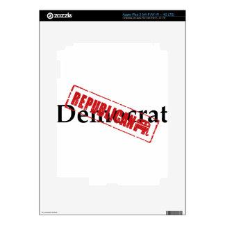 Demócrata: REPUBLICANO Pegatina Skin Para iPad 3