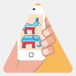Demócrata republicano Smartphone Pegatina Triangular