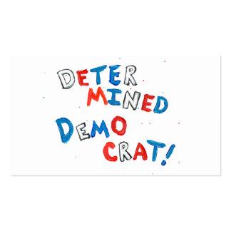 Demócrata resuelto único de la diversión orgullosa tarjetas personales