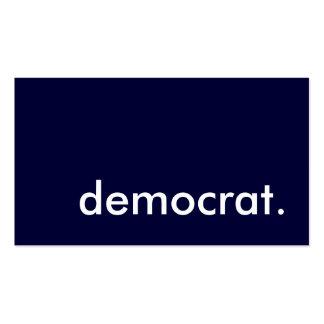 demócrata plantillas de tarjetas personales