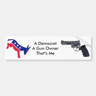 Demócrata y un dueño de arma pegatina para auto