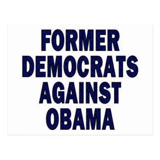 Demócratas anteriores contra Obama Tarjeta Postal