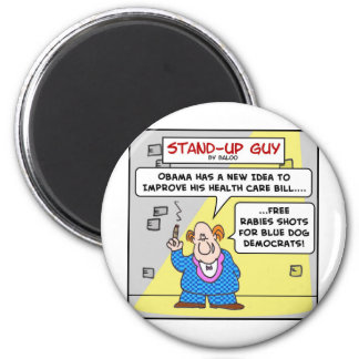 demócratas azules obama del perro imán redondo 5 cm