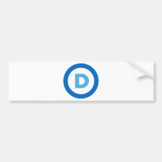 Demócratas Etiqueta De Parachoque