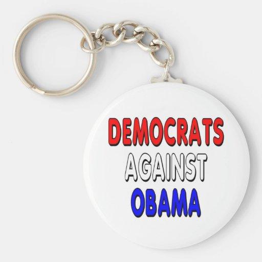 Demócratas contra Obama Llavero Redondo Tipo Pin