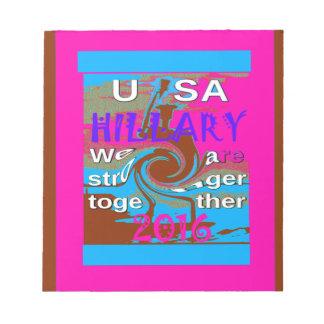 Demócratas Hillary para presidente We de los Bloc De Papel
