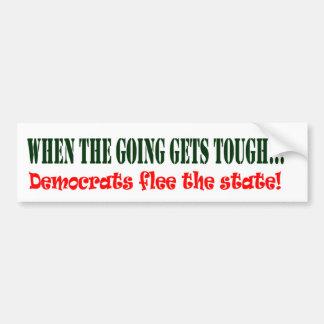 ¡Demócratas huyen Etiqueta De Parachoque