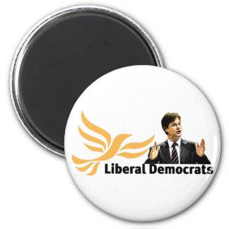 Demócratas liberales imán redondo 5 cm