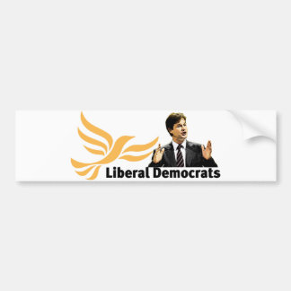 Demócratas liberales pegatina de parachoque