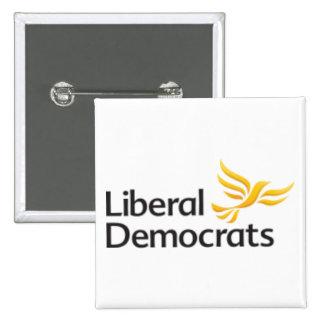 Demócratas liberales pin cuadrado
