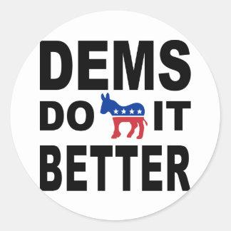 Demócratas lo hacen pegatinas redondas