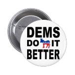 Demócratas lo hacen pin redondo 5 cm