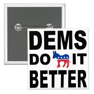 Demócratas lo hacen pins