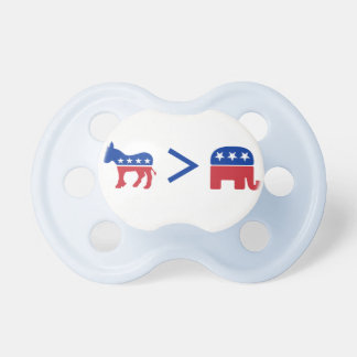 Demócratas mayores que pacificador del niño de los chupete de bebé