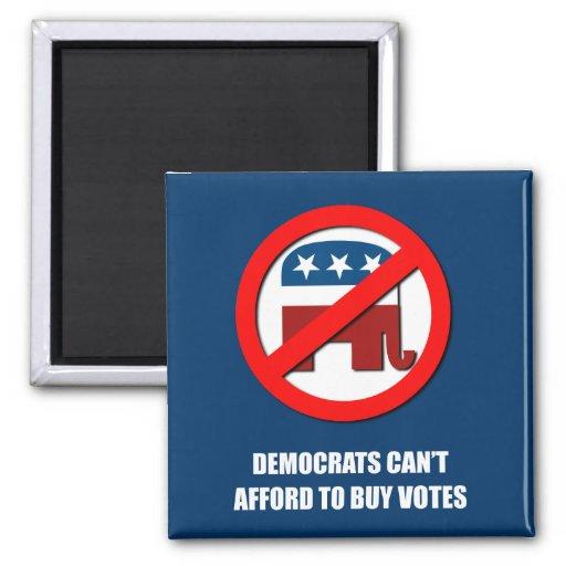 Demócratas no pueden permitirse comprar votos iman de nevera