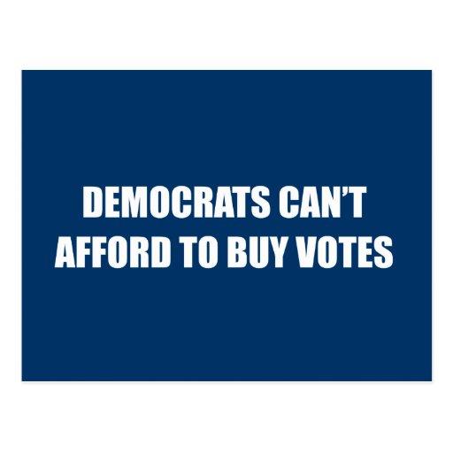 Demócratas no pueden permitirse comprar votos postal