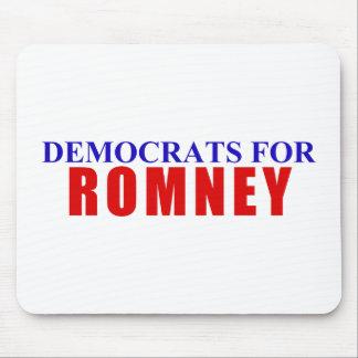 Demócratas para Romney Alfombrillas De Ratón