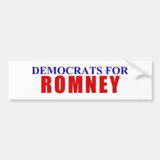 Demócratas para Romney Pegatina Para Auto
