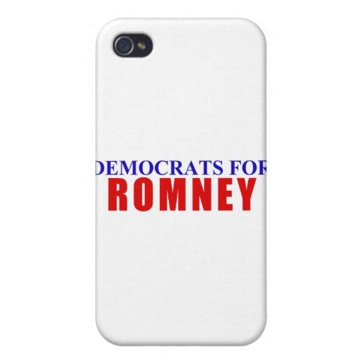 Demócratas para Romney iPhone 4/4S Carcasa
