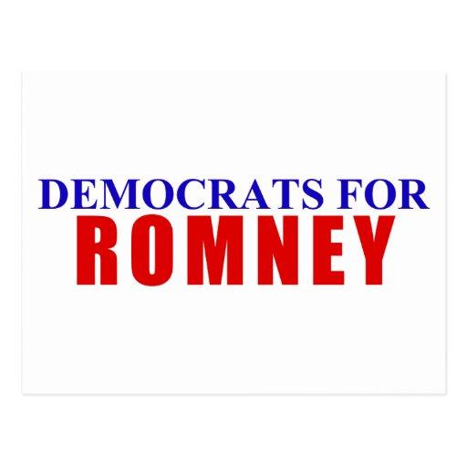 Demócratas para Romney Tarjeta Postal