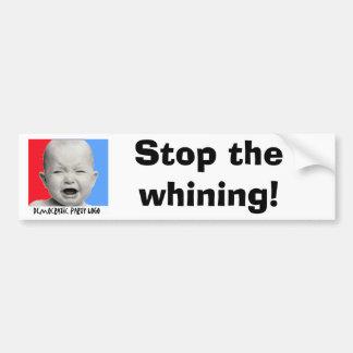¡Demócratas, paran el gimoteo! Etiqueta De Parachoque