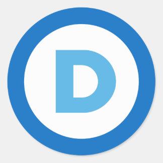 Demócratas Pegatina Redonda