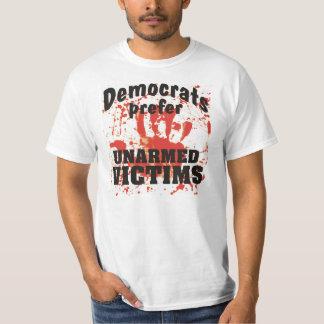 Demócratas prefieren la camiseta sangrienta de las playera