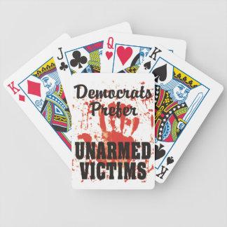 Demócratas prefieren naipes DESARMADOS de las VÍCT Barajas