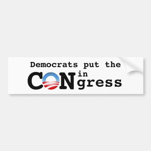Demócratas pusieron la ESTAFA en congreso Pegatina Para Auto