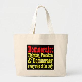 Demócratas que luchan la libertad bolsas