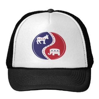 Demócratas republicanos que trabajan junto gorro de camionero