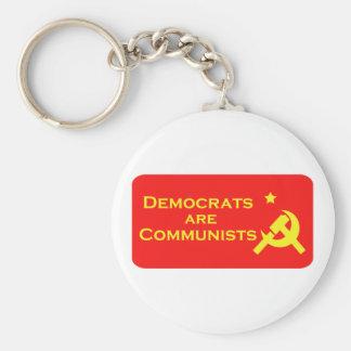 Demócratas son Commies Llavero Redondo Tipo Pin