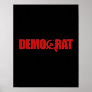 Demócratas son comunistas póster