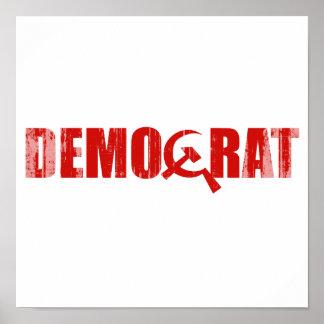 Demócratas son Faded.png comunistas Póster