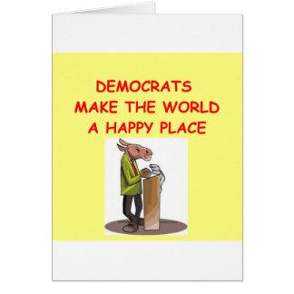 demócratas tarjeta de felicitación