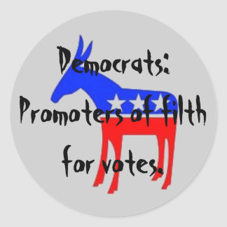 democratass, Demócratas: Promotores o… - Pegatina Redonda