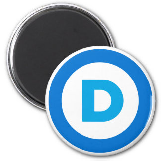 Democratic 2 Inch Round Magnet