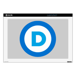 Democratic 43,2cm Portátil Calcomanía