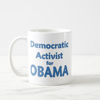 Democratic Activist for Obama Classic White Coffee Mug