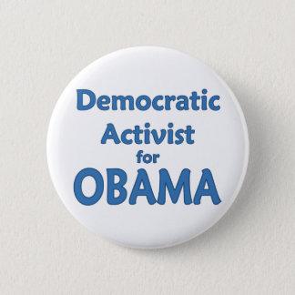 Democratic Activist for Obama Pinback Button