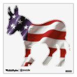 Democratic American Flag Donkey Wall Decal