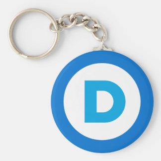 Democratic Basic Round Button Keychain