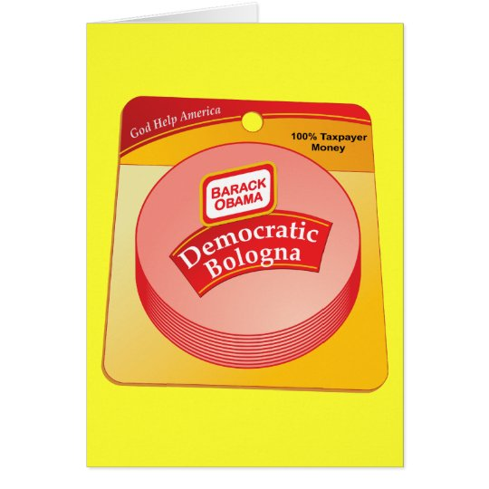 Democratic Bologna - Barack Obama Card